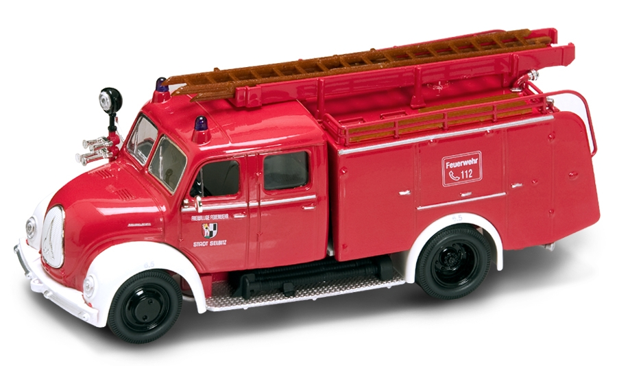 brandweer 1:43 lucky dicast MAGIRUS motorspuit brandweer